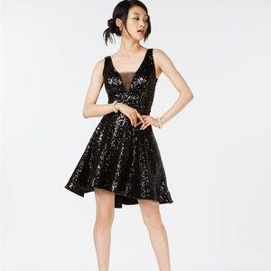 B.darlin Sequined Sequin Dress Black Nwt 2018